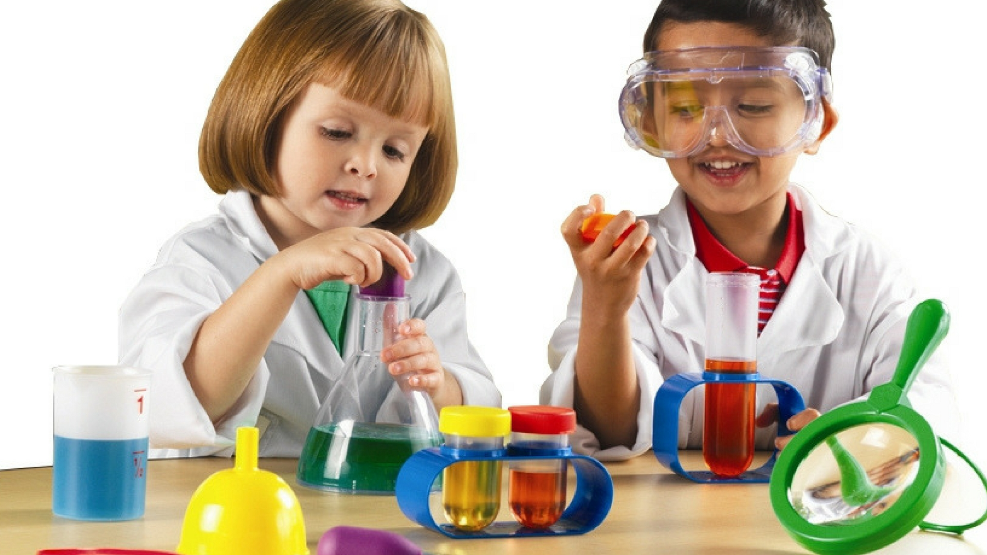 Pictures of children doing science