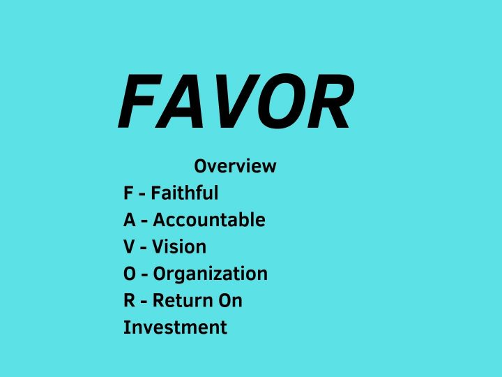 FAVOR-Overview