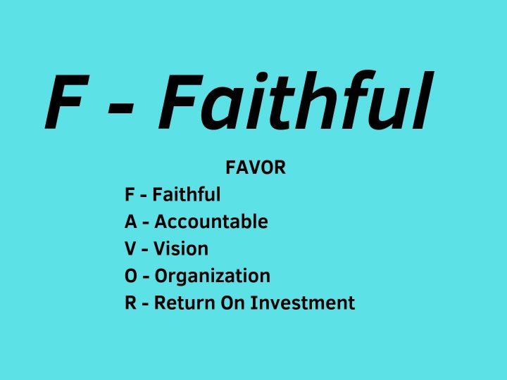 F-Faithful