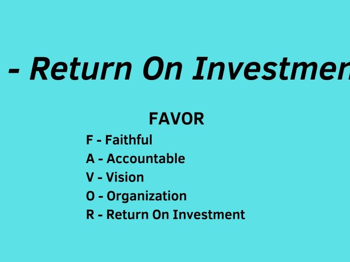 R-Return On Investment